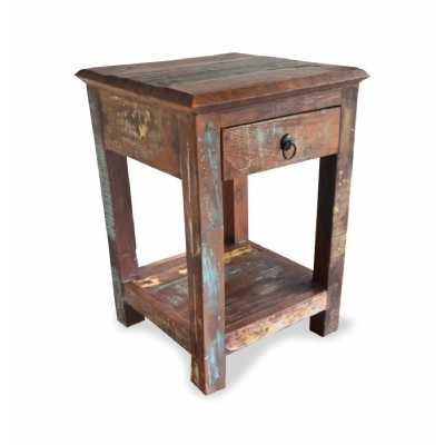 New England Side Table Bohemian Distressed Style