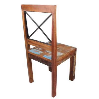 New England Distressed Bohemian Reclaimed Dining Chair