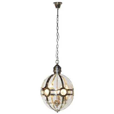 Steampunk Design Cage Pendant Ceiling Light with Chain