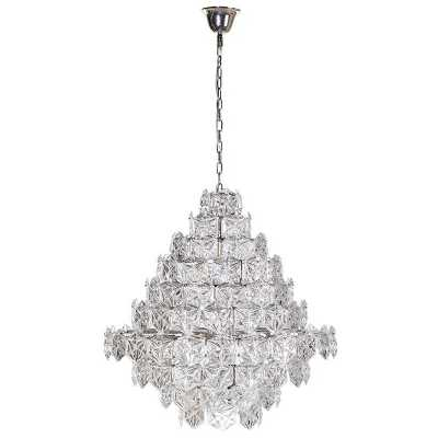 Traditional Multi Layered Glass Waterfall Chandelier Light