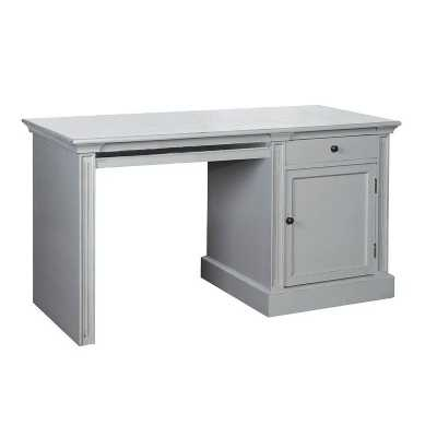 Fayence Grey Painted Traditional Style Office Desk