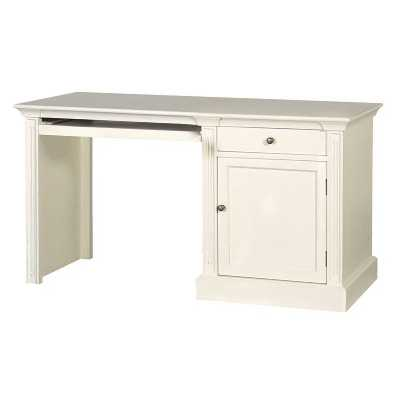 Fayence Cream Painted Desk With 1 Drawer and Cupboard