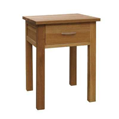 Modern Brooklyn Oak Solid Wood Lamp Bedside Table