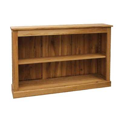 Low Wide Window Bookcase Brooklyn Oak