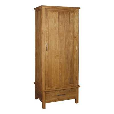 Brooklyn Oak Single Wardrobe 1 Door 1 Drawer