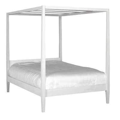 White Brooklyn Oak 4 Poster Bedstead