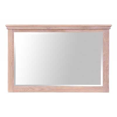 Rosa Corniced Edged Chalked Oak Frame Rectangular Wall Mirror
