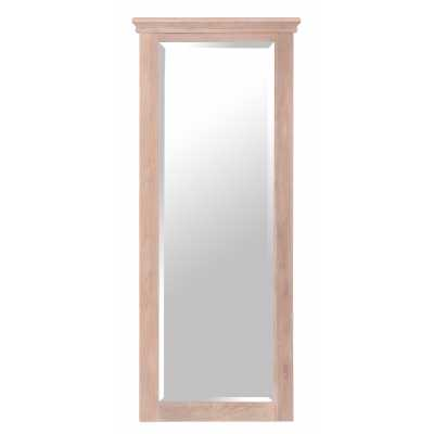 Rosa Tall Corniced Edged Chalked Oak Frame Rectangular Wall Mirror
