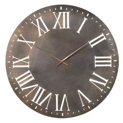 Industrial Iron Roman Numeral Wall Clock
