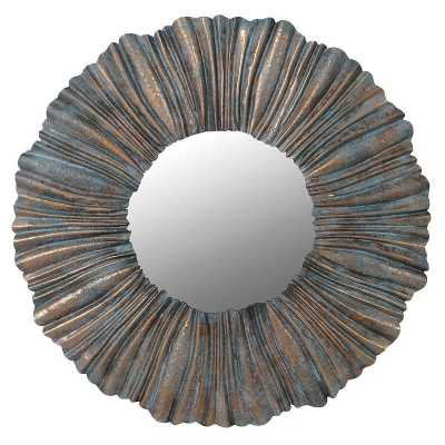 Pleated Wall Mirror