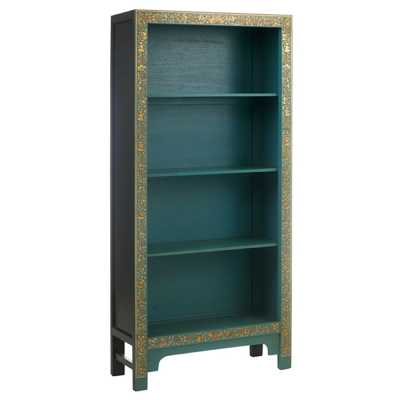 PCL01A Baumhaus The Nine Schools Oriental Decorated Blue Bookcase