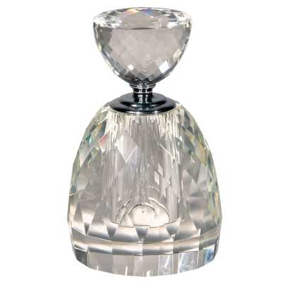 Multi Faceted Crystal Perfume Bottle
