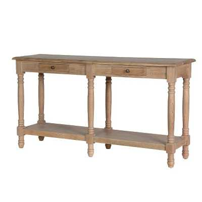 Weathered Oak 2 Drawer Hall Console Table