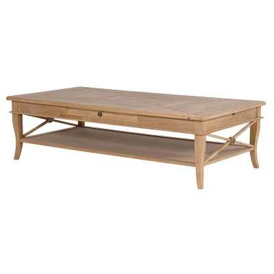 Sacramento Weathered Oak 1 Drawer Coffee Table