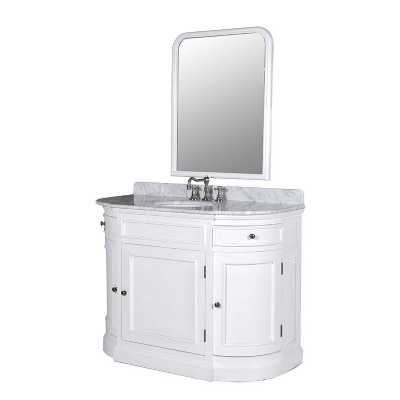 White Birch Sink Unit With Mirror