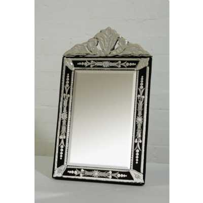 Venetian Table Mirror, Black