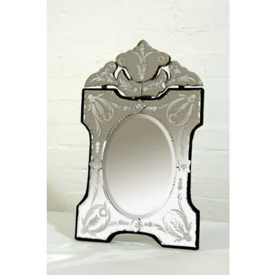 Venetian Table Mirror Scalloped And Arched