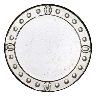 Vintage Style Round Beveled Ball Venetian Wall Mirror