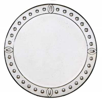 Round Speckled Aged Venetian Glass Wall Mirror