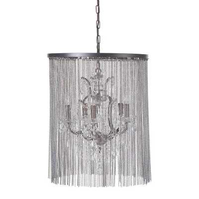 Crystal And Glass Chain Chandelier