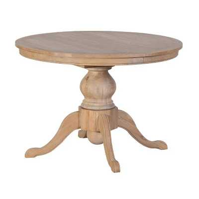 Weathered Oak Extending Round Rectangular Oval Dining Table