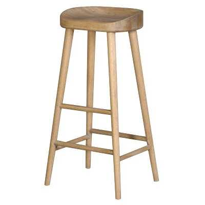 Set of 6 Weathered Solid Oak Farmhouse Kitchen Breakfast Bar Stools