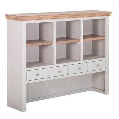 Rosa 4 Drawer Hutch with 3 Shelves