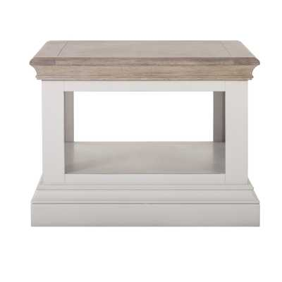 Rosa Chalked Oak Top and Light Grey Painted Rectangular Coffee Table