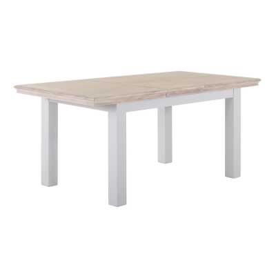 Modern Farmhouse Grey Extension Dining Table 1.4 1.8 with Chalked Oak Top