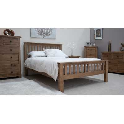 Rustic Oak KingSize Bed
