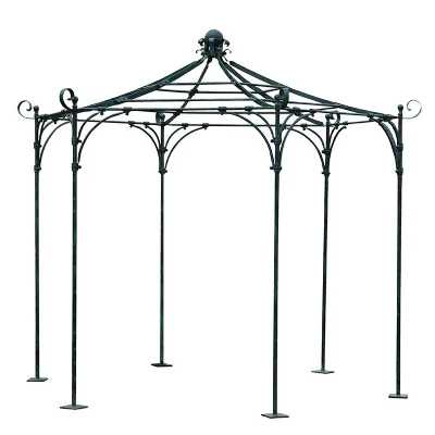 Dome Top Traditional Style Large Round Iron Garden Pergola