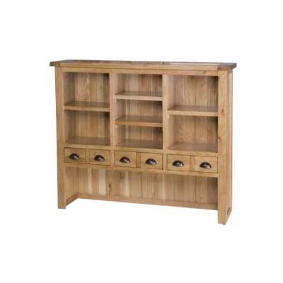 Vancouver Select Hutch with 6 Drawers And 4 Shelves