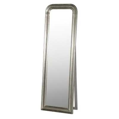 Large Full Length Silver Free Standing Cheval Floor Dressing Mirror