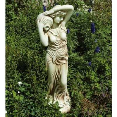 Stone Effect Garden Ornament Maiden with Water Vessel Outdoor Statue
