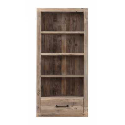 Cal Stadium Reclaimed Wood Bookcase With 1 Drawer