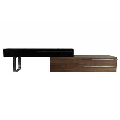 Alexis TV Unit Black And Walnut