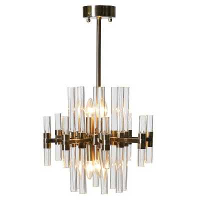 Medium Glass Rods Chandelier