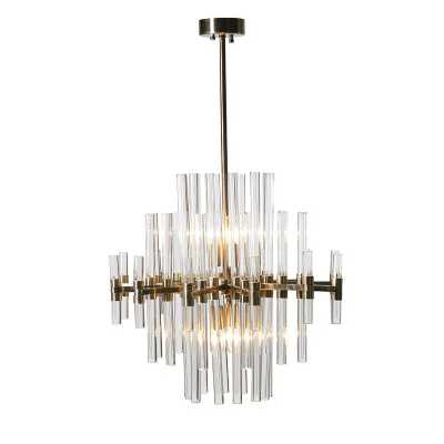 Large Glass Rods Chandelier