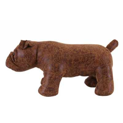 Animal Ottomans Brown Bulldog