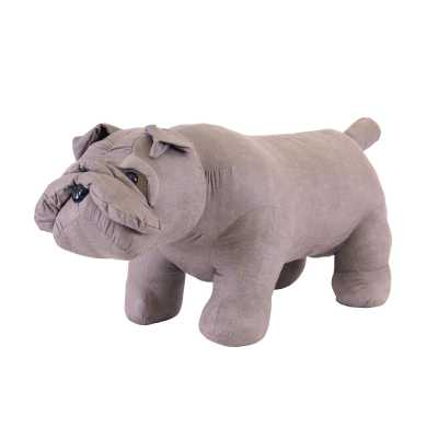 Animal Ottomans Grey Bulldog
