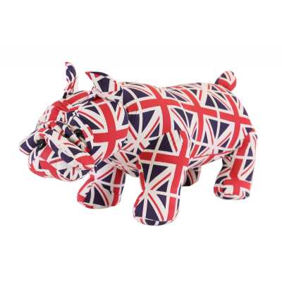 Animal Ottomans Union Jack Bulldog