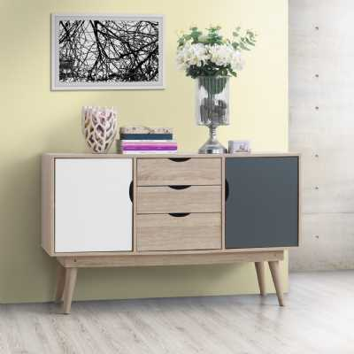 2 Sideboard With 2 Doors And 3 Drawers