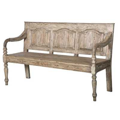 Colonial Reclaimed Pine 2 Seater Bench