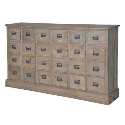Colonial Reclaimed Pine 24 Drawer Chest