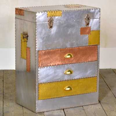 Industrial Aluminium and Copper Chest of Drawers London Urban Chic