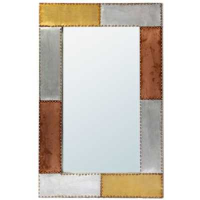 London Urban Chic Industrial Aluminium and Copper Wall Mirror