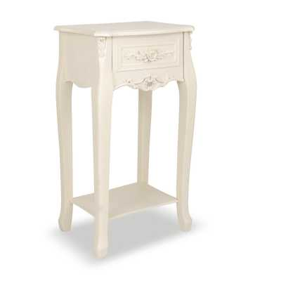 Appleby Appleby White Top Bedside Console Table 1 Drawer