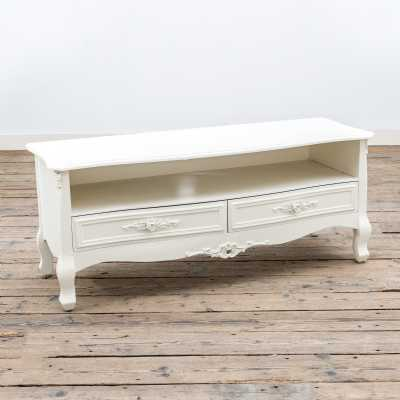 Appleby White Top Media Unit with 2 Drawers