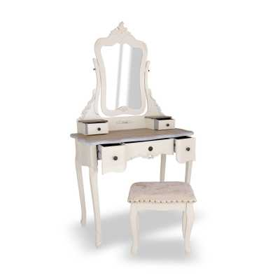 Appleby Appleby Wood Top Dressing Table Set