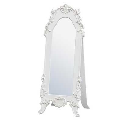 Antique White Floor Standing Mirror